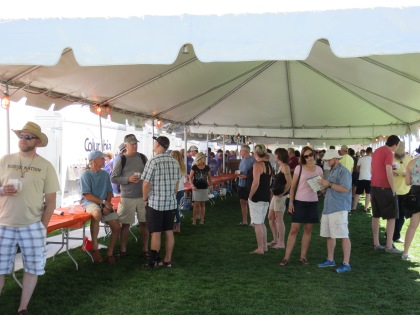 Breweries giving out samples in the tents