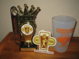 Prizes you may win for completing the Ale Trail
