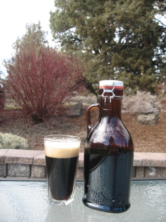 Deschutes Brewery Black Butte Porter and a growler