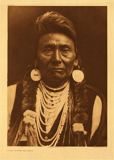 Chief Joseph-Nez Perce by Edward S. Curtis. 1903.