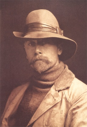 Edward S. Curtis. Self-portrait. Circa 1899.