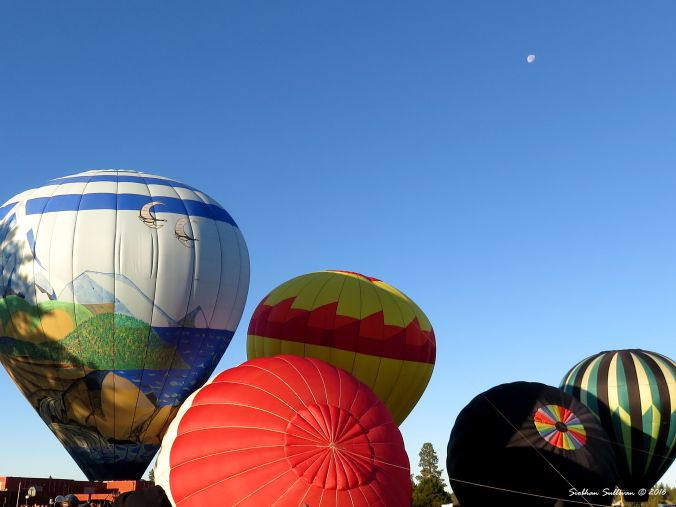 Multiple hot air balloons in Bend, OR 23 July 2016