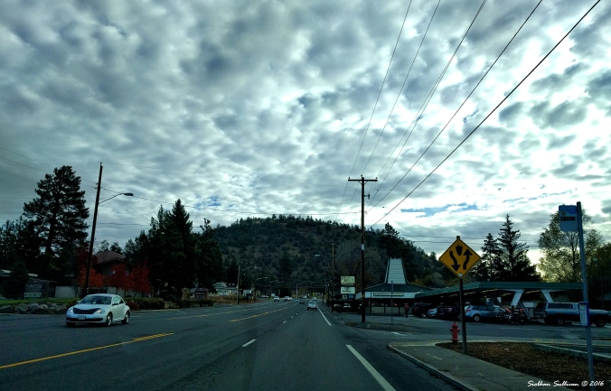 Pilot Butte with Pilot Butte Drive In November 2016