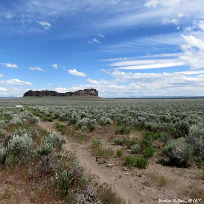 View of Fort Rock, Oregon 10June2016
