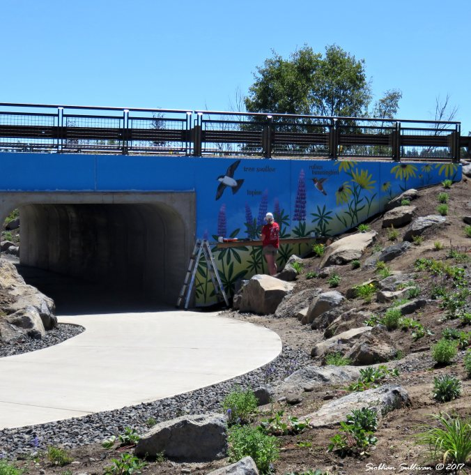 Colorado Avenue Tunnel Mural by Sandy Klein 30July2016